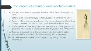 classical cuisine modern kitchen and it s history