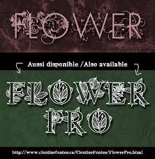 flower pro flower font dafont
