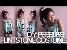 Flinstone Halloween Costume Diy Pebbles Flintstone Halloween Costume
