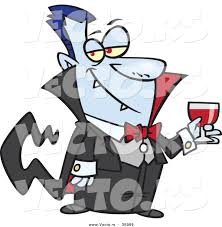 Halloween Vector Graphics by Halloween Vector Of A Suave Cartoon Vampire Holding Wine Glass