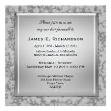 Funeral Service Invitation Custom Grey Marble Invitations U0026 Announcements Zazzle Co Nz