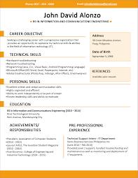 Format Of Job Resume by Impressive Job Resume Outline Format In Resume Template Best
