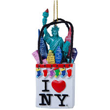 nyc in a bag ornament