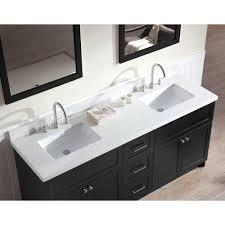 Quartz Vanity Tops Ariel Bath F073d Wq Blk Hamlet 73 Double Sink Vanity Set In Black