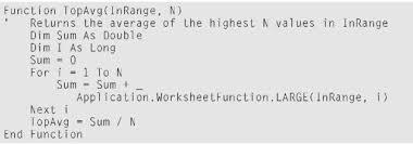 creating worksheet functions u2014 in excel vba