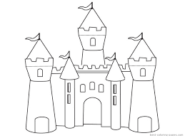 amazing princess castle coloring pages intended to really