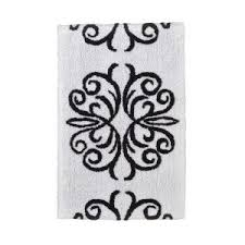 Black Bathroom Rug Impressive Calligraphy Bath Rug Neiman At Black And White