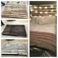 Pallet Wood Headboard I Stumbled Across This Awesome Diy Bed Headboard Made From