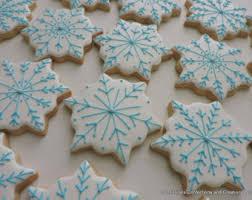 snowflake sugar cookies snowflake cookies etsy