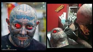 tattoo jogja murah tato seluruh tubunya termasuk mata pria ini habiskan rp 1 m
