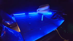boat led strip lights bass boat led light system at night on the water youtube