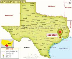 of houston cus map where is houston located in usa