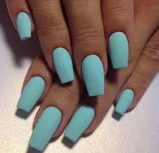 aqua blue nail color