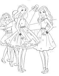free coloring pages barbie princess fashion pauper