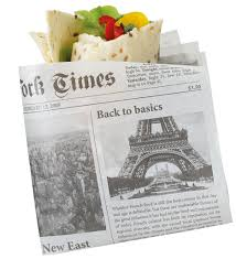 newspaper wrapping paper newspaper wrapping paper for all your take aways fame co kuwait