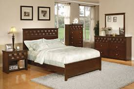 Beds Sets Cheap 5 Pc Pendleton Collection Medium Brown Finish Wood Ribbon Design