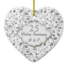 25th wedding anniversary christmas ornament 25th silver wedding anniversary christmas tree decorations