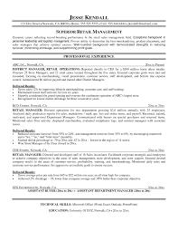 Sle Resume by Exles Of Resumes Resume Exle Sle Retail Manager Sle