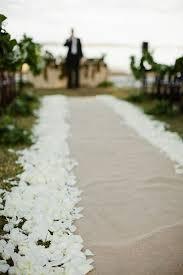 petal aisle runner burlap and petal aisle runner wedding ideas
