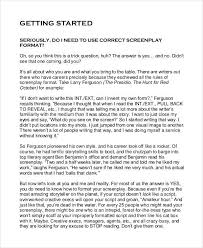 screenplay example the godfather sample script page writing