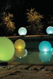 Floating Solar Pond Lights - outdoor solar lights gardens float and pools
