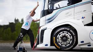 volvo commercial vehicles bbc autos make way for the world u0027s fastest truck