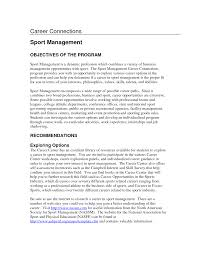 Project Management Resume Examples And Samples by Sport Management Resume Resume For Your Job Application