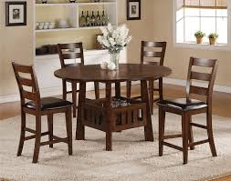 dining room furniture collection graham counter height table and 4 chairs burnished oak levin
