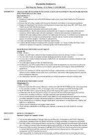 sle of resume senior solution specialist resume sles velvet