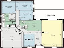 plan de maison en l avec 4 chambres plan maison plain pied 4 chambres ooreka en l newsindo co