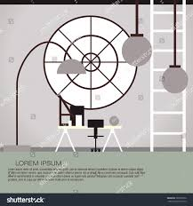 vector illustration cabinet interior design colorful stock vector