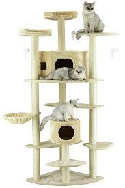 amazon com go pet club cat tree 80 inch beige cat climbing