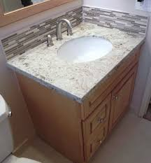 how to make a backsplash for a bathroom vanity home design ideas