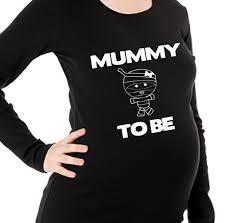 halloween maternity shirt mummy to be size small long sleeve