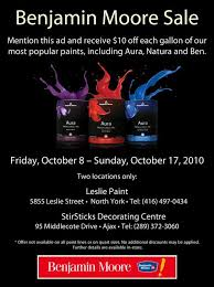 benjamin moore paint prices benjamin moore paint sale in north york exp oct 17th