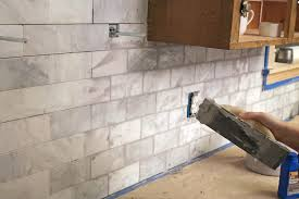 marble subway tile kitchen backsplash the craft patch diy marble subway tile backsplash tips tricks