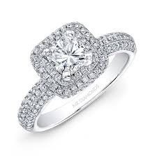 round square rings images 14k white gold square diamond halo engagement ring jpg