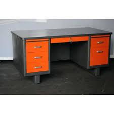 vintage tanker desk desk orange vintage steelcase tanker desk