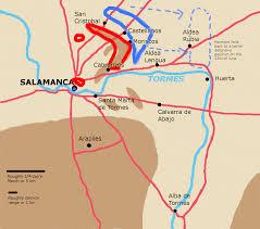 Salamanca Spain Map by Post 004 The Salamanca Campaign