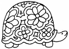 cute turtle coloring page free download