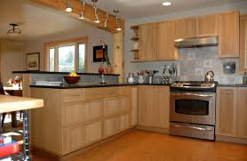 kitchen gorgeous natural varnished bamboo kitchen cabinets with