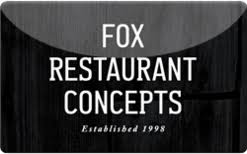 restaurant gift cards online fox restaurant concepts gift card check your balance online