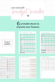 Debt Snowball Spreadsheet How To Create A Budget Binder One Sweet Life