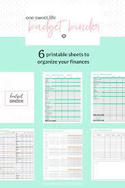 Create A Budget Worksheet How To Create A Budget Binder One Sweet Life