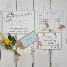 wedfest wedding invitation rustic outdoor wedding stationery