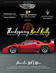 of island thanksgiving car rally this november 5th