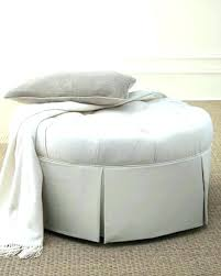Skirted Ottoman Tufted Ottoman Etechconsulting Co