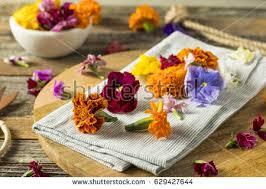 organic edible flowers organic edible flowers ready eat stock photo 629427644
