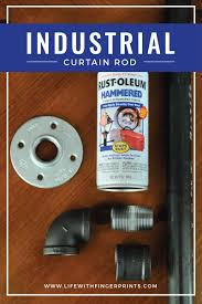 industrial curtain rods made from piping