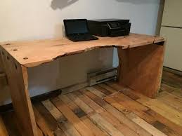 live edge computer desk live edge waterfall desk d angelo woodcraft